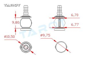Tarot Damping pan,titl ball,small schematic